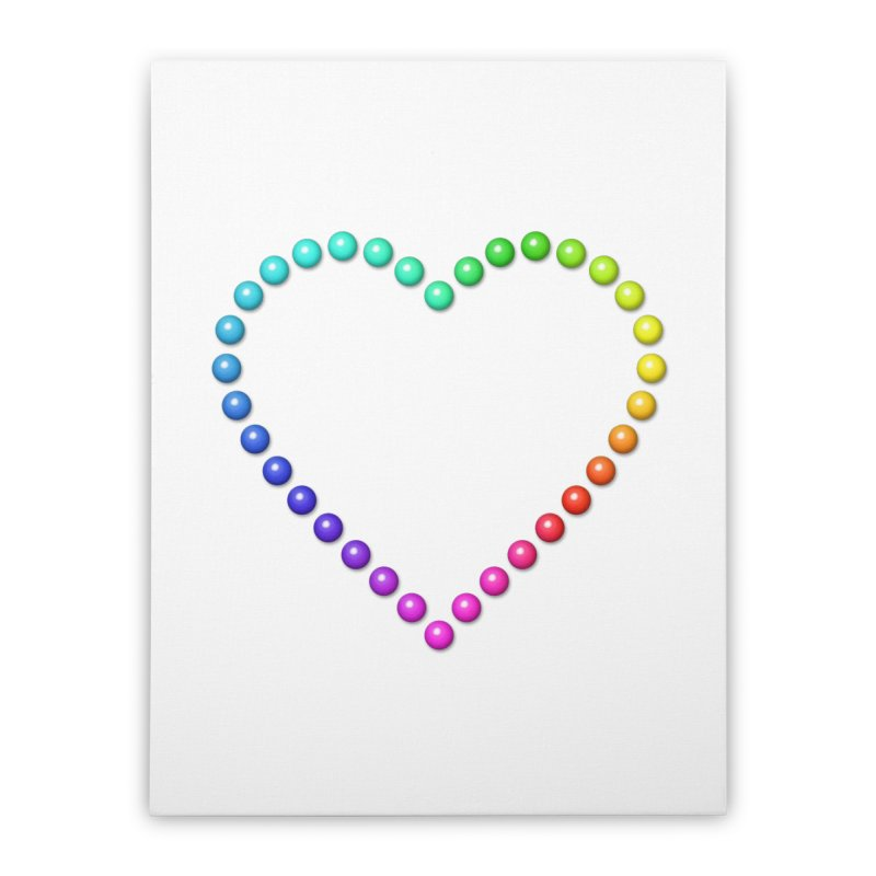 Rainbow Heart Home Stretched Canvas by The Digital Crafts Shop