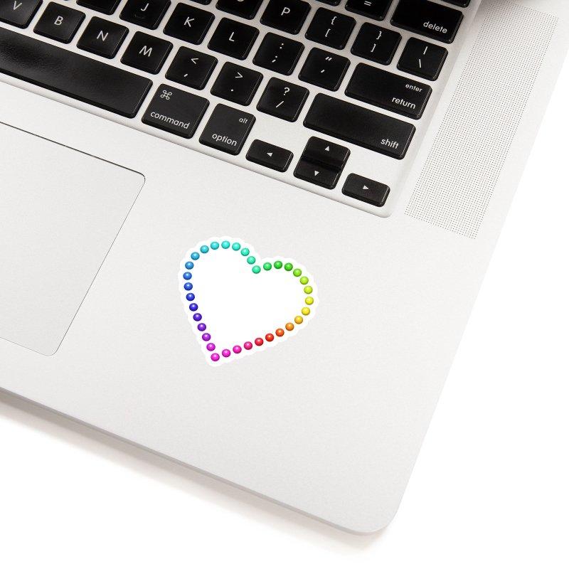 Rainbow Heart Accessories Sticker by The Digital Crafts Shop