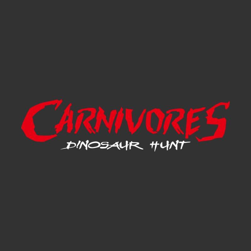 Carnivores: Dinosaur Hunt logo (on dark) Men's Pullover Hoody by Digital Dreams Entainment Shop