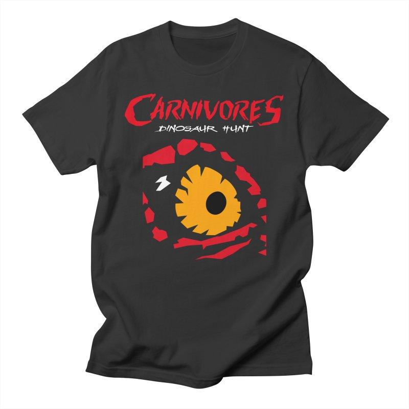 Carnivores: Dinosaur Hunt eye Men's T-Shirt by Digital Dreams Entainment Shop