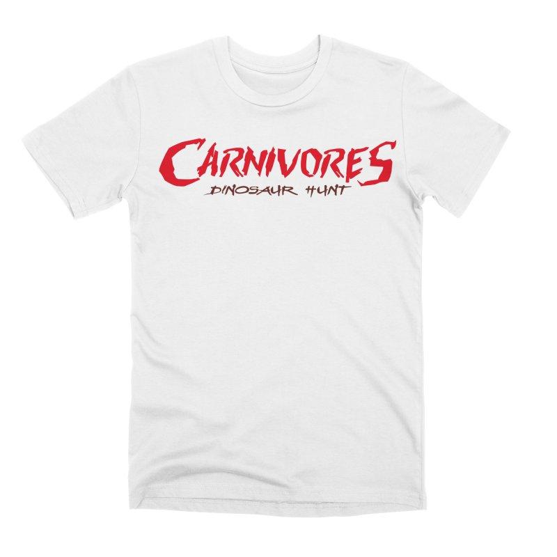 Carnivores: Dinosaur Hunt logo (on light) Men's T-Shirt by Digital Dreams Entainment Shop