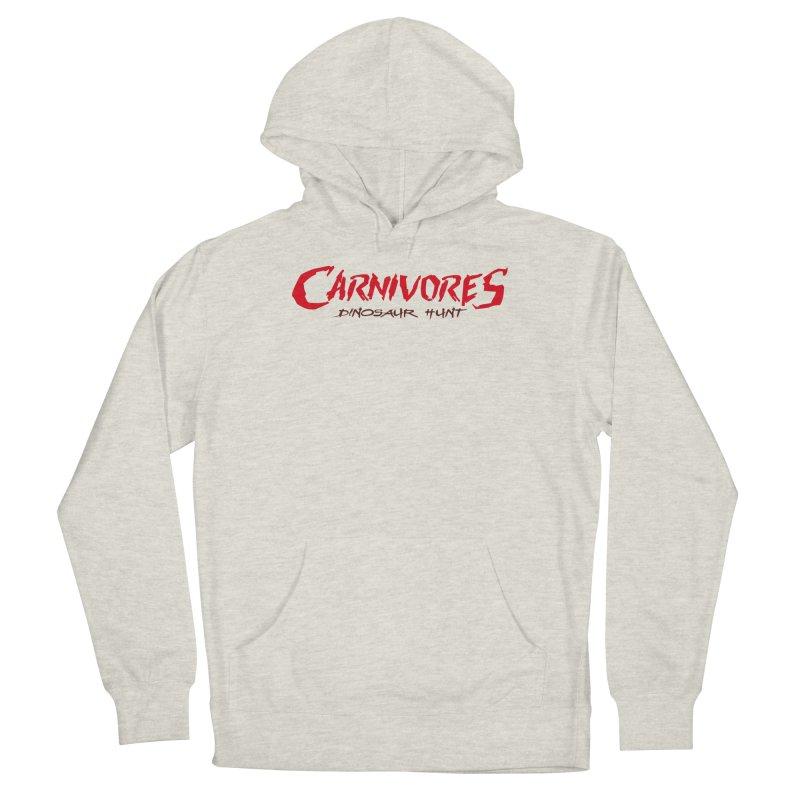 Carnivores: Dinosaur Hunt logo (on light) Men's Pullover Hoody by Digital Dreams Entainment Shop