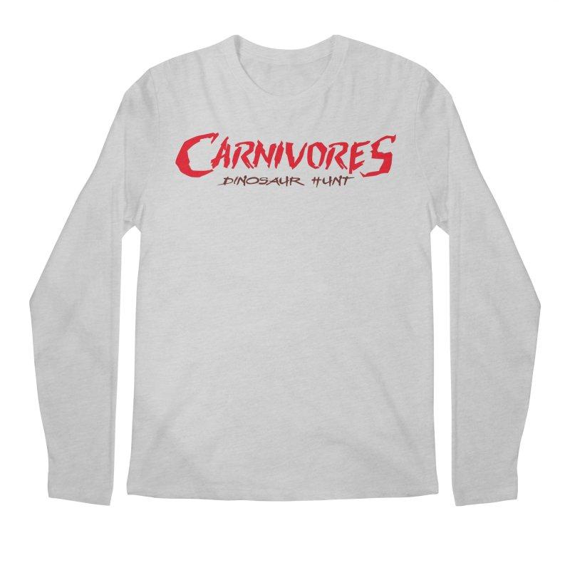 Carnivores: Dinosaur Hunt logo (on light) Men's Longsleeve T-Shirt by Digital Dreams Entainment Shop