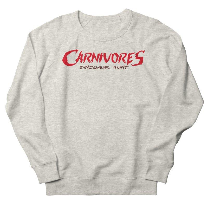Carnivores: Dinosaur Hunt logo (on light) Men's Sweatshirt by Digital Dreams Entainment Shop