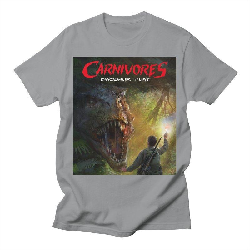 Carnivores: Dinosaur Hunt - T-Rex Hunter Men's T-Shirt by Digital Dreams Entainment Shop