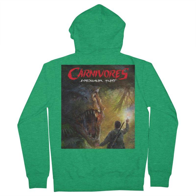 Carnivores: Dinosaur Hunt - T-Rex Hunter Men's Zip-Up Hoody by Digital Dreams Entainment Shop