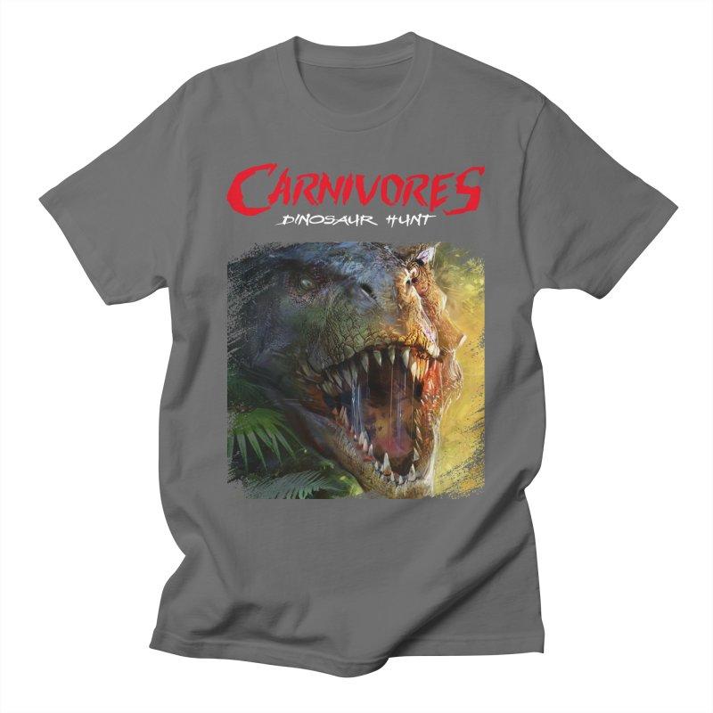 Carnivores: Dinosaur Hunt - T-Rex Scratch (on dark) Men's T-Shirt by Digital Dreams Entainment Shop
