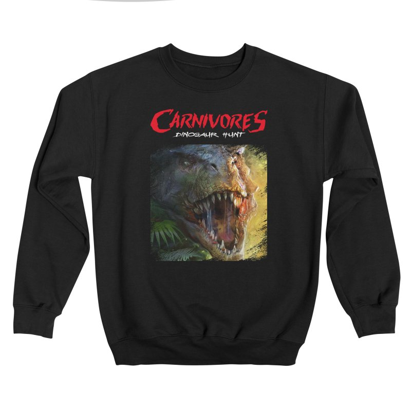 Carnivores: Dinosaur Hunt - T-Rex Scratch (on dark) Women's Sweatshirt by Digital Dreams Entainment Shop