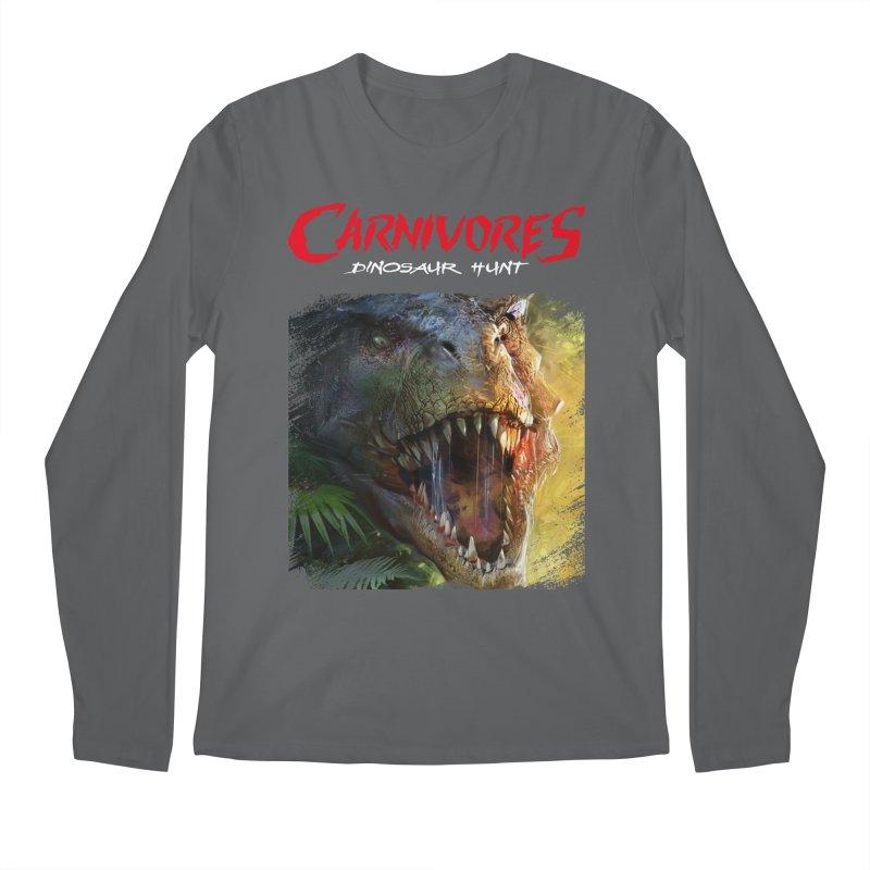 Carnivores: Dinosaur Hunt - T-Rex Scratch (on dark) Men's Longsleeve T-Shirt by Digital Dreams Entainment Shop
