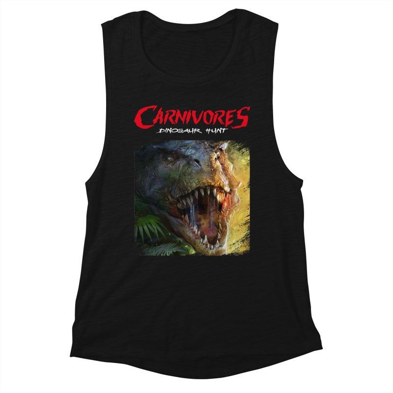Carnivores: Dinosaur Hunt - T-Rex Scratch (on dark) Women's Tank by Digital Dreams Entainment Shop