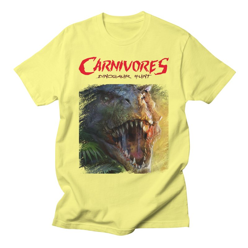 Carnivores: Dinosaur Hunt - T-Rex Scratch (on light) Men's T-Shirt by Digital Dreams Entainment Shop
