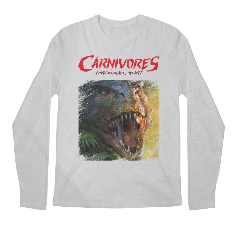 Carnivores: Dinosaur Hunt - T-Rex Scratch (on light) Men's Longsleeve T-Shirt by Digital Dreams Entainment Shop