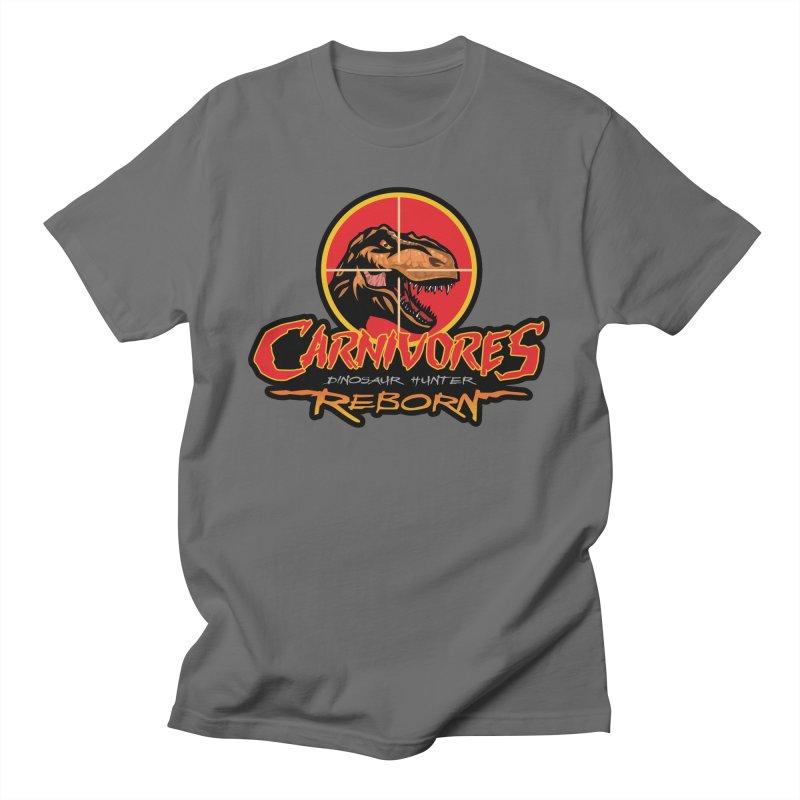 Carnivores: Dinosaur Hunter - Reborn logo Men's T-Shirt by Digital Dreams Entainment Shop