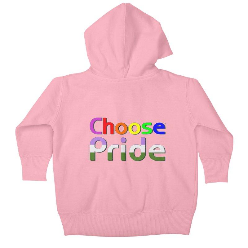 Choose Pride (gender queer stripes) Little Folks Baby Zip-Up Hoody by The Digital Gryphon Shop