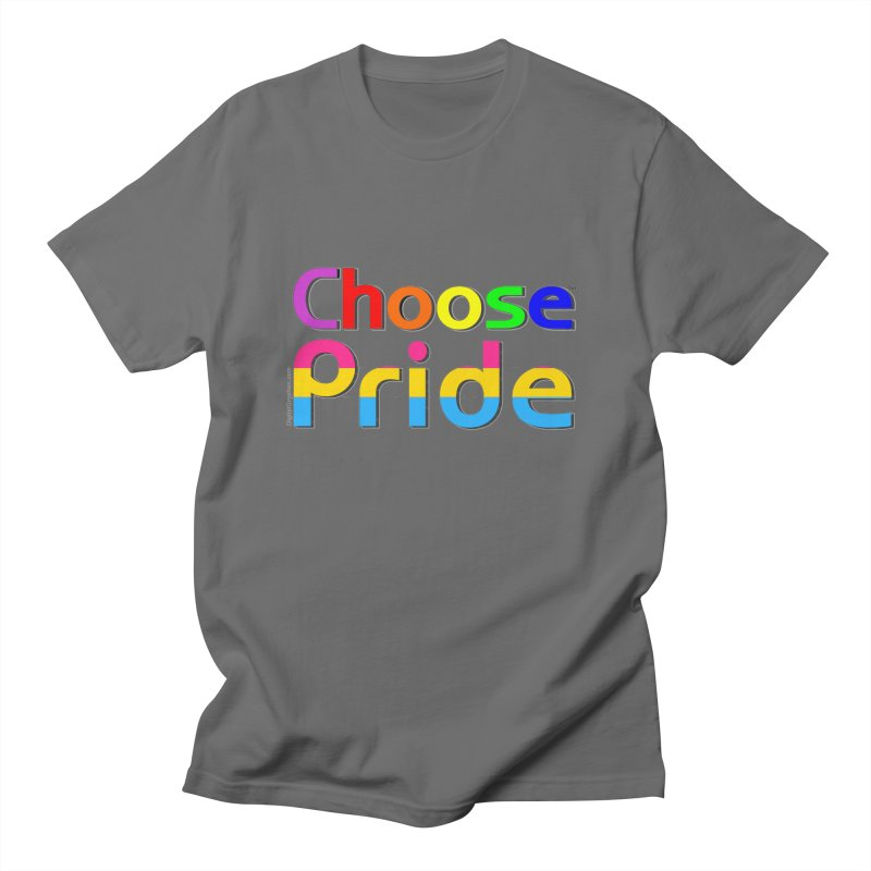 Choose Pride (pansexual stripes) Masc T-Shirt by The Digital Gryphon Shop