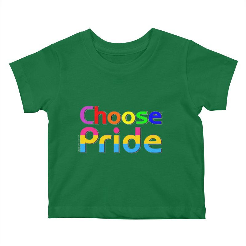 Choose Pride (pansexual stripes) Little Folks Baby T-Shirt by The Digital Gryphon Shop