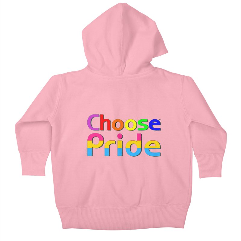 Choose Pride (pansexual stripes) Little Folks Baby Zip-Up Hoody by The Digital Gryphon Shop