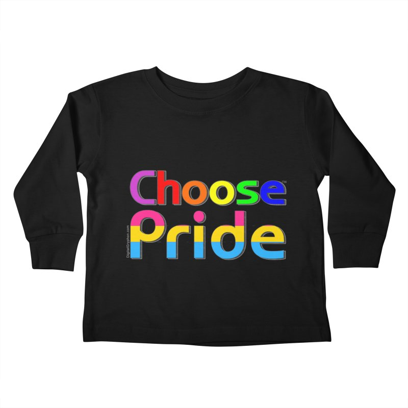 Choose Pride (pansexual stripes) Little Folks Toddler Longsleeve T-Shirt by The Digital Gryphon Shop