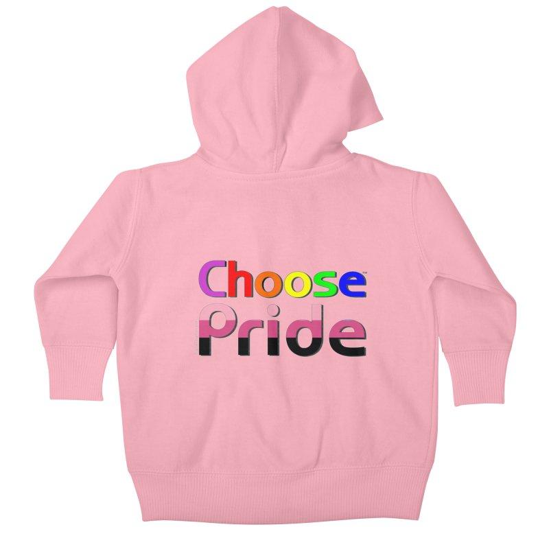 Choose Pride (transfem stripes) Little Folks Baby Zip-Up Hoody by The Digital Gryphon Shop