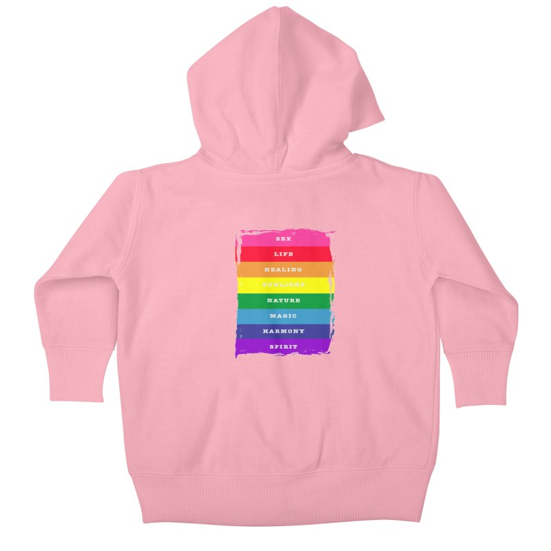 OG Rainbow Pride (with meanings) Little Folks Baby Zip-Up Hoody by The Digital Gryphon Shop