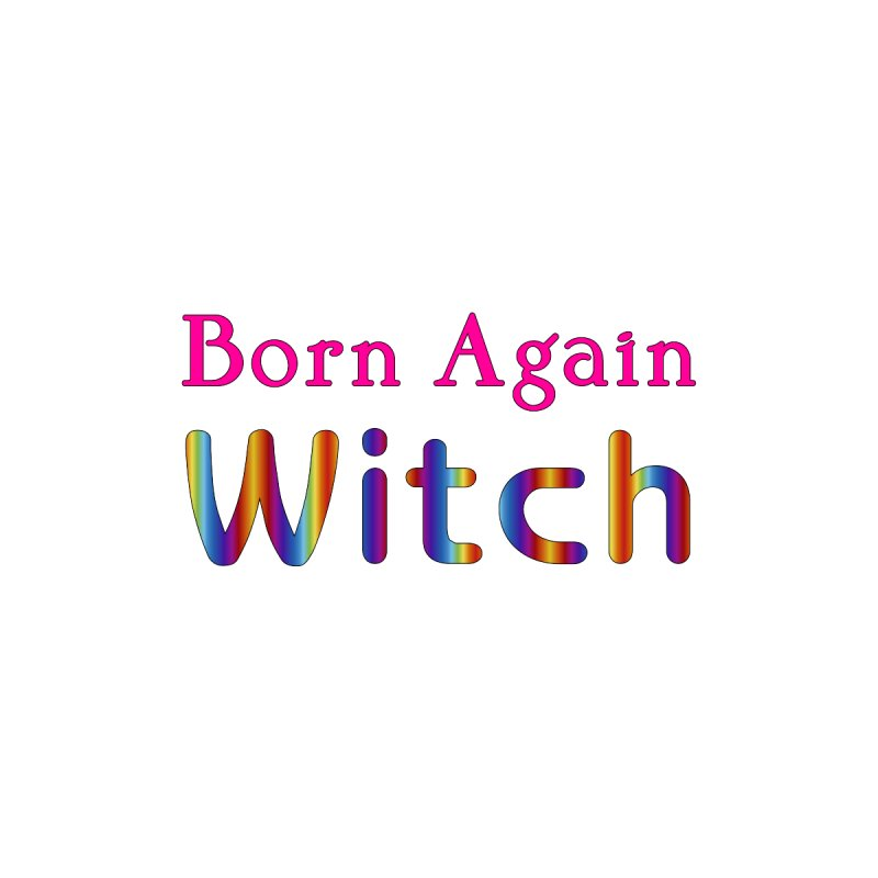 Born Again Witch Logotype Masc T-Shirt by The Digital Gryphon Shop