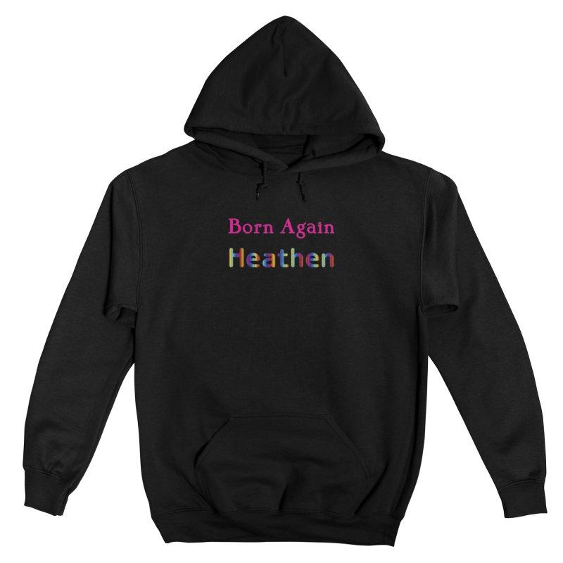 Born Again Heathen Logotype Femme Pullover Hoody by The Digital Gryphon Shop