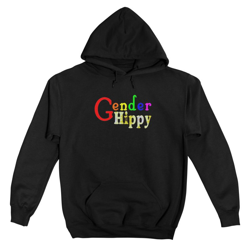 Gender Hippy Logotype Femme Pullover Hoody by The Digital Gryphon Shop