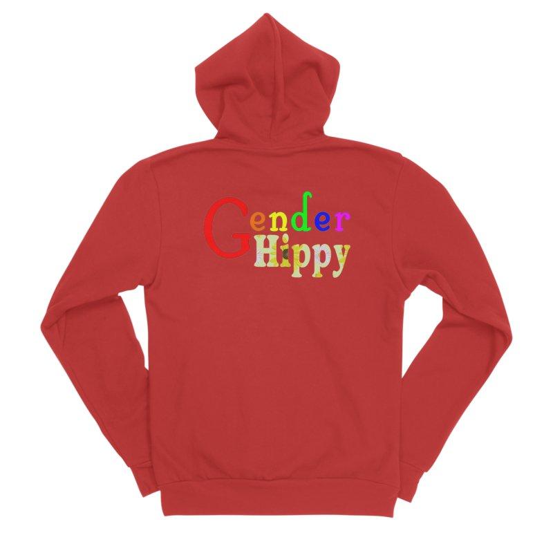 Gender Hippy Logotype Femme Zip-Up Hoody by The Digital Gryphon Shop