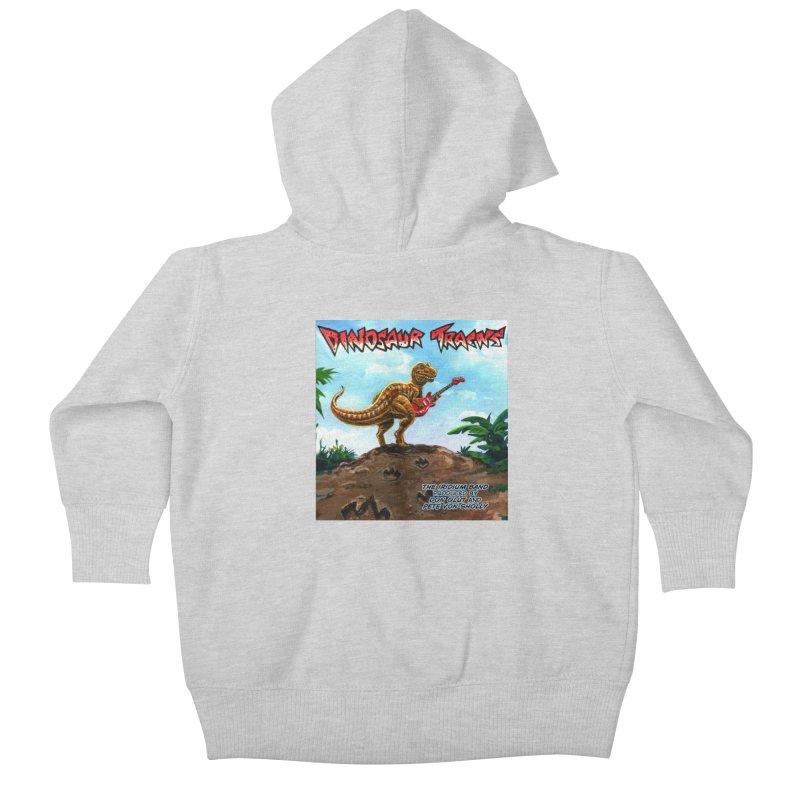 Dinosaur Tracks Album Cover Kids Baby Zip-Up Hoody by Dinosaur Tracks Artist Shop