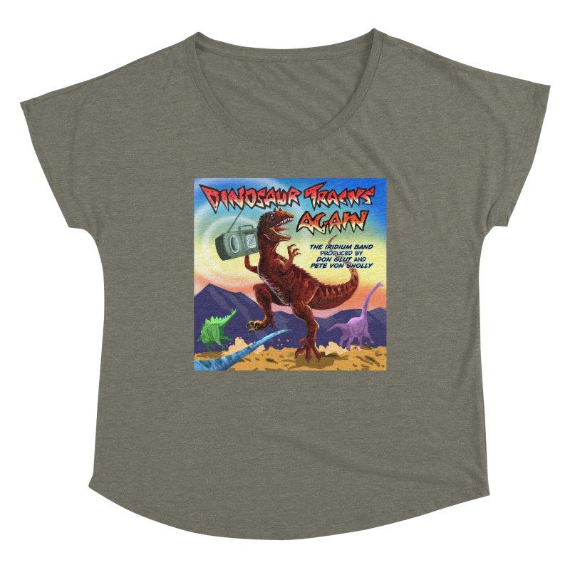 DINOSAUR TRACKS AGAIN Album Art Women's Scoop Neck by Dinosaur Tracks Artist Shop
