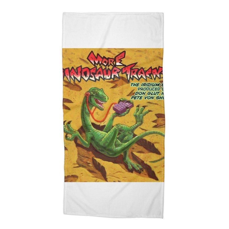 MORE DINOSAUR TRACKS Album cover Accessories Beach Towel by Dinosaur Tracks Artist Shop