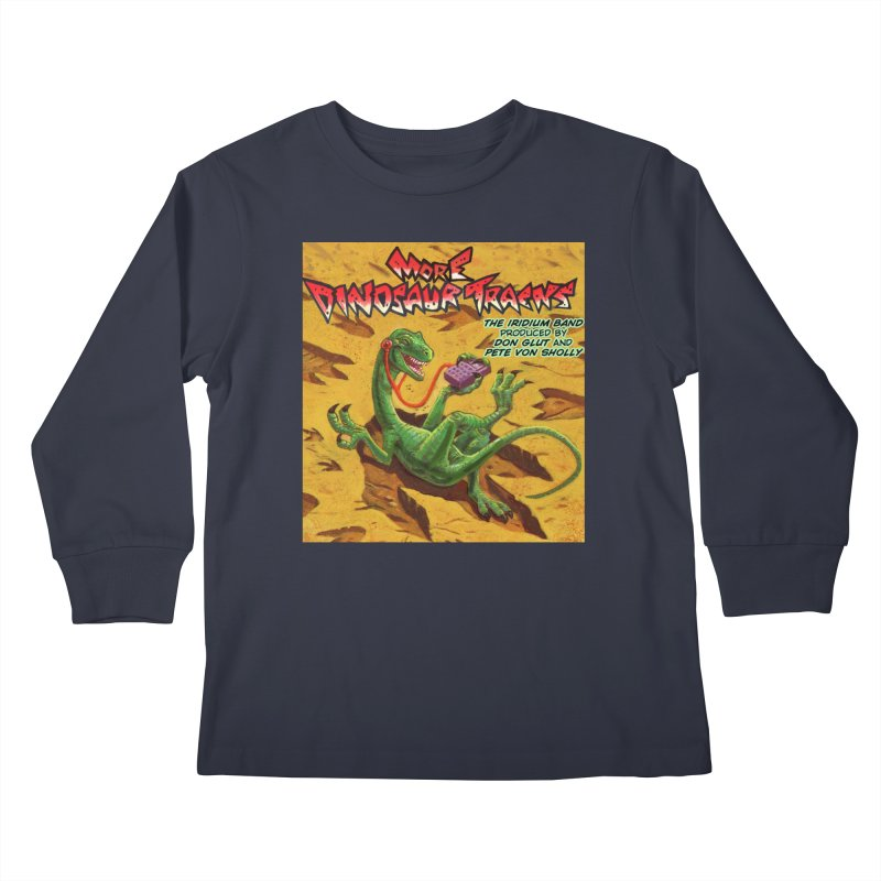MORE DINOSAUR TRACKS Album cover Kids Longsleeve T-Shirt by Dinosaur Tracks Artist Shop