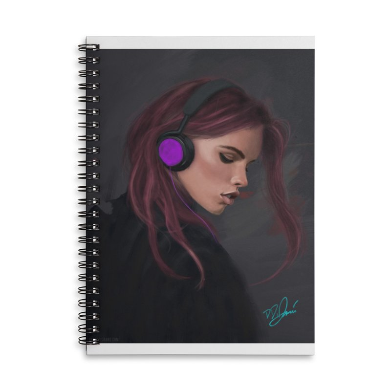 Jammin' Accessories Lined Spiral Notebook by Dijanni's Artist Shop