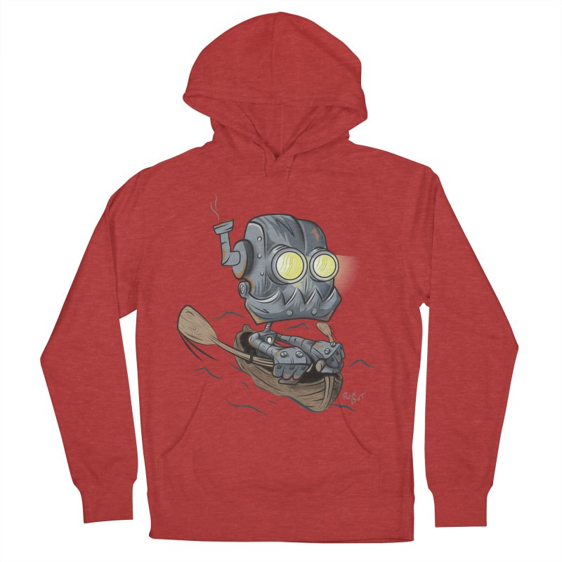 Row-bot Women's French Terry Pullover Hoody by Dijanni's Artist Shop