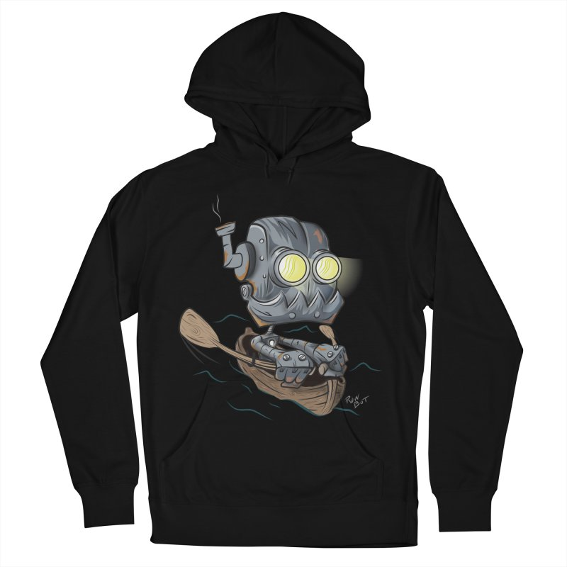 Row-bot Men's French Terry Pullover Hoody by Dijanni's Artist Shop