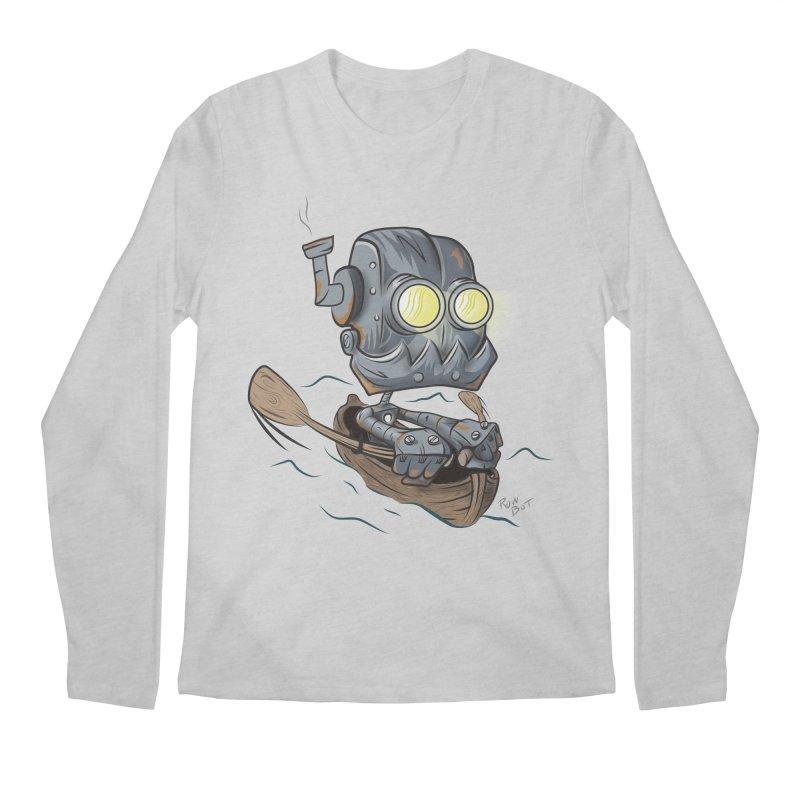 Row-bot Men's Regular Longsleeve T-Shirt by Dijanni's Artist Shop