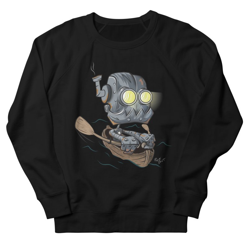 Row-bot Men's French Terry Sweatshirt by Dijanni's Artist Shop