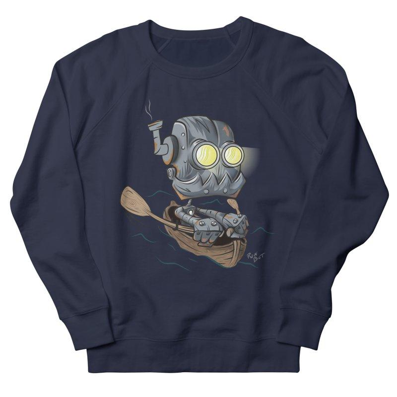 Row-bot Men's French Terry Sweatshirt by Dijanni's Artist Shop