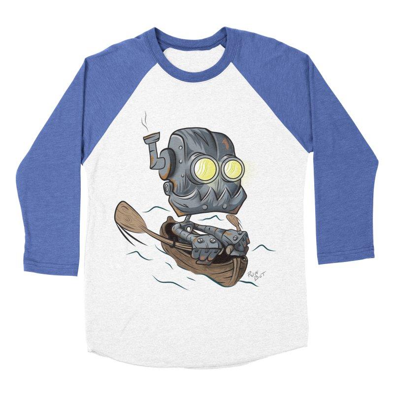 Row-bot Men's Baseball Triblend Longsleeve T-Shirt by Dijanni's Artist Shop