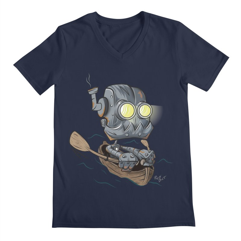 Row-bot Men's Regular V-Neck by Dijanni's Artist Shop