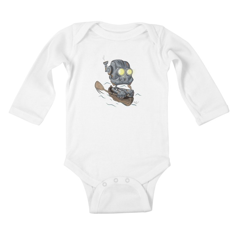 Row-bot Kids Baby Longsleeve Bodysuit by Dijanni's Artist Shop