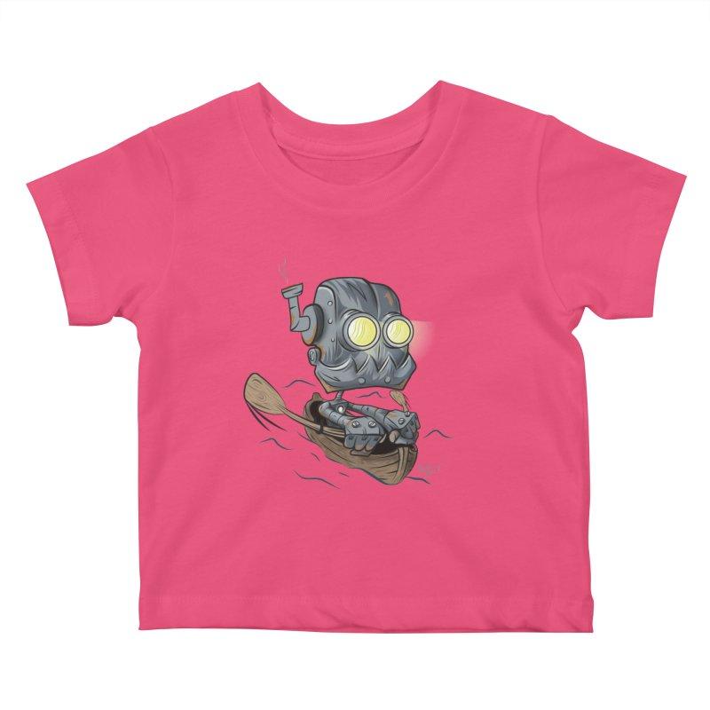 Row-bot Kids Baby T-Shirt by Dijanni's Artist Shop