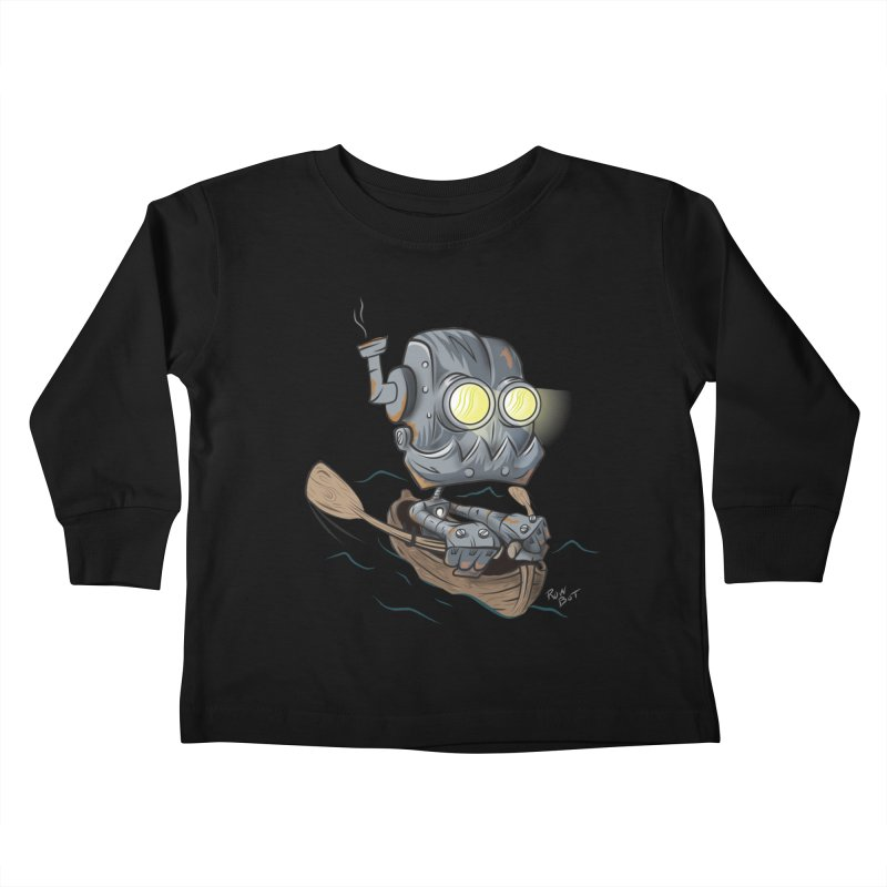 Row-bot Kids Toddler Longsleeve T-Shirt by Dijanni's Artist Shop