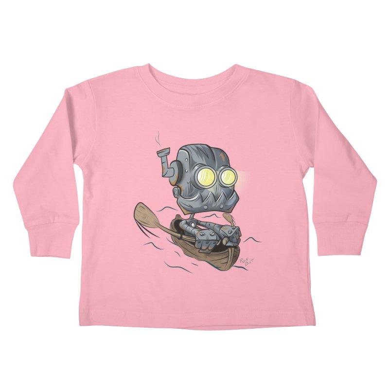 Row-bot Kids Toddler Longsleeve T-Shirt by Dijanni's Artist Shop