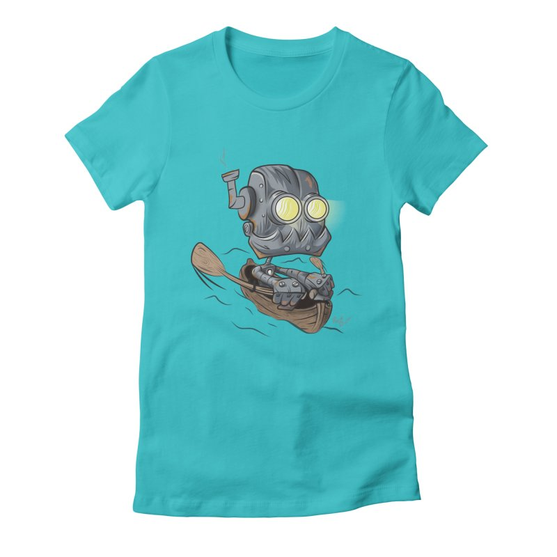 Row-bot Women's Fitted T-Shirt by Dijanni's Artist Shop