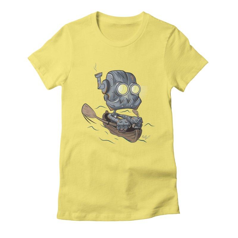 Row-bot Women's Fitted T-Shirt by Dijanni's Artist Shop