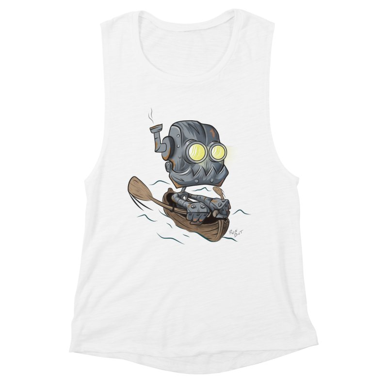 Row-bot Women's Muscle Tank by Dijanni's Artist Shop