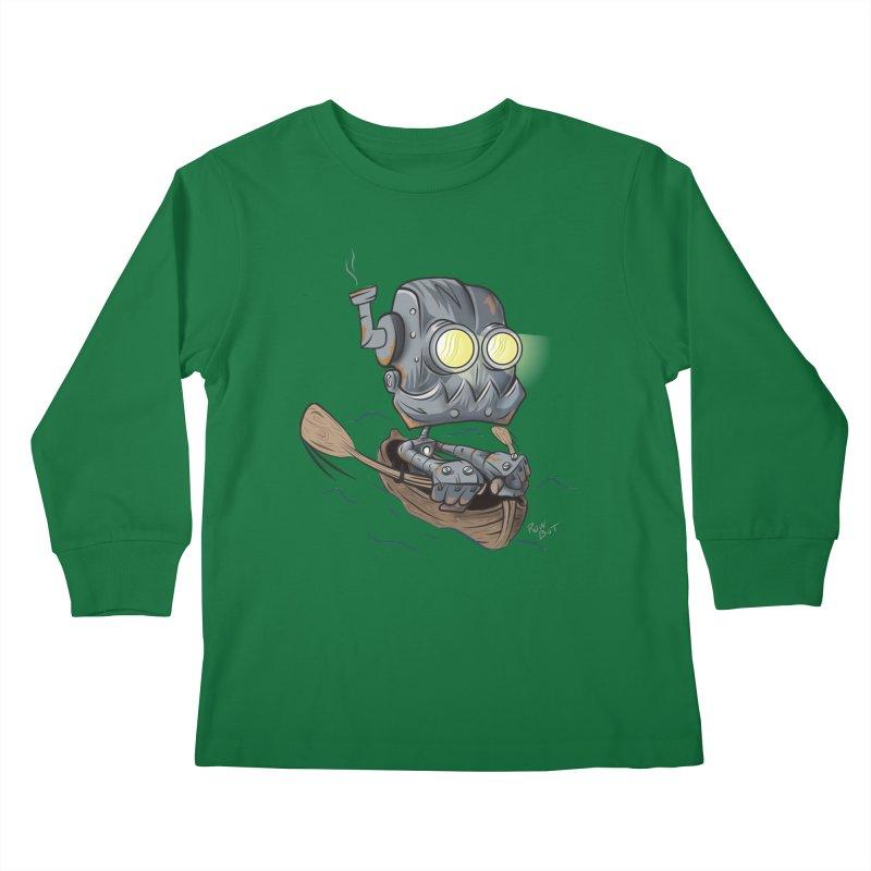 Row-bot Kids Longsleeve T-Shirt by Dijanni's Artist Shop
