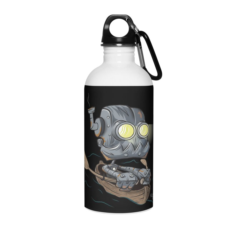 Row-bot Accessories Water Bottle by Dijanni's Artist Shop