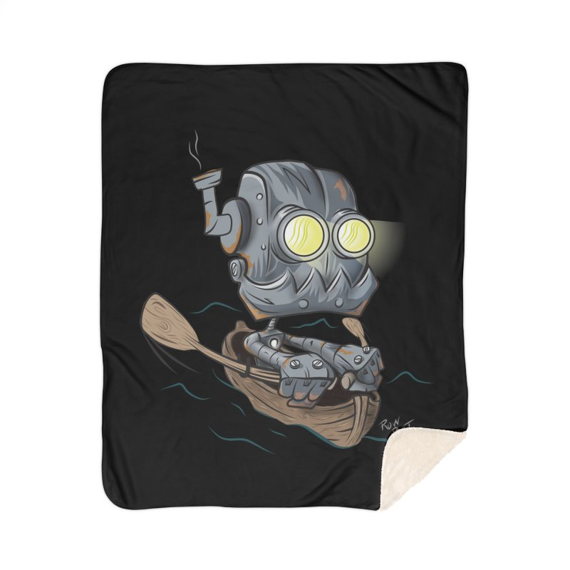 Row-bot Home Sherpa Blanket Blanket by Dijanni's Artist Shop